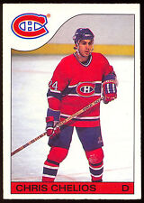 1985 86 OPC O PEE CHEE HOCKEY 51 CHRIS CHELIOS NM MONTREAL CANADIENS RED WINGS
