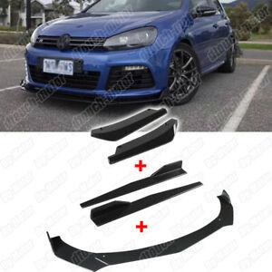 Front Lip Rear Splitter Side Skirt Apron Body Kit For Volkswagen Golf GTI R MK6