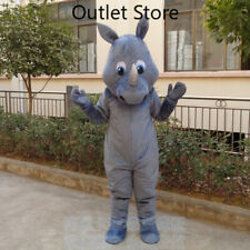 Halloween Rhinoceros Cosplay Mascot Costume Outfit Xmas Party Outifit CarnivalAD