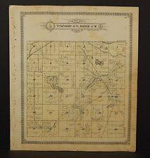 Wisconsin Washburn County Map Bass Lake Township 1915  L13#88
