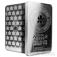 10 oz Silver Bars Royal Canadian Mint RCM .9999 Fine Bullion Bar Ingot