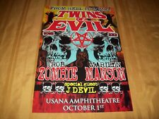 ORIG 2012 TWINS OF EVIL POSTER ROB ZOMBIE & MARILYN MANSON RARE!