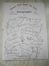 A Collection Of Official Manchester United Printed Autographs From The 1960's