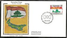 Canada SC # 827 Canadian Flags - Prince Edward Island  - FDC . Colorano Cachet.