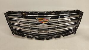 2017-2019 CADILLAC XT5 FRONT CHROME BUMPER GRILLE INSERT WITH EMBLEM 17-19 OEM