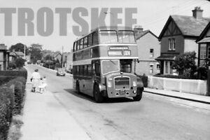 Larger Negative Wilts & Dorset Bristol Lodekka ECW 617 NHR844 c1960s