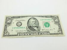 Old Paper Money 1988 FIfty $50 Dollar Bill Federal Reserve Note
