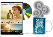 Pride and Prejudice DVD Jane Austen & Mug - Coffe & Movie Gift Set NEW