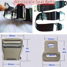 Black Airplane Seat Adjustable Safe Belt Plane Seatbelt Safe Extender Aerospace