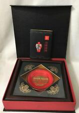 China-Red Collector Plate In Shadow Box Frame Gold Imperial Palace Beijing