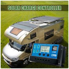 LCD Solar Regler Batterie Regulator Controller Dual USB 10A 12/24V LD981