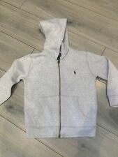 Boys Grey Ralph Lauren Polo Jacket Jumper  Age 4 - 5 Designer Good Condition!