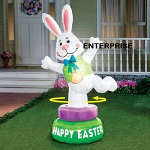 EASTER BUNNY ANIMATED AIRBLOWN INFLATABLE LIGHTED YARD DECOR