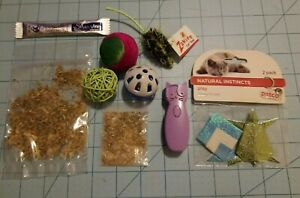 Mixed Brands: Cat Lot - Paper Toys, Laser Pointer, Catnip, Mouse & 3 Balls - NEW