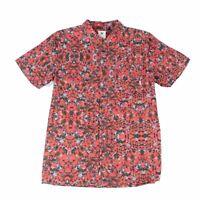 Element Mens Shirt Red Size XL Button Up Floral Print Front Pocket $50 #130