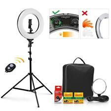 Ring Light 14'' 40W, 3200-5600K Bi-Color Dimmable Rechargeable Video Ring Light!