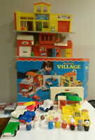 Fisher Price #997 Little People Village Play Family 1973 complete w box