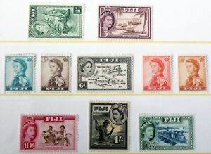 Fiji – 1954/59 P. Set to 1/6 – Cat £25+ - VLM Mint – (R4)