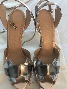 Charlotte Olympia Silver Wedge Heel