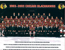 2002 2003 CHICAGO BLACK HAWKS 8X10 TEAM PHOTO HOCKEY NHL HOF ILLINOIS