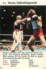 Dieter Kottysch Germany Boxing Boxe welters Sport PLAYING CARD CARTE À JOUER