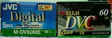 Lot of 10 MiniDV Tapes-Panasonic, JVC & Fuji - 60 Min Ea.