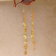Trendy Long Tassel Earrings Chain Heart Women Ear Stud Korean Statement Jewelry