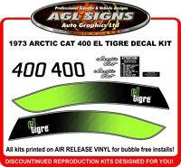1973 ARCTIC CAT EL TIGRE 400 Reproduction Decal Kit  graphic 440 also