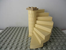 LEGO LIGHT TAN SPIRAL STAIRCASE (8 STEPS COMPLETE ASSEMBLY) DARK TAN TOP PLATE