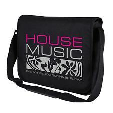 House Music Dj Club Clubbing Black Motif Music Shoulder Bag Messenger Bag