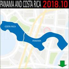 Panama and Costa Rica NAVIGATION MAP GPS 2018.10 FOR GARMIN DEVICES  -LATEST MAP