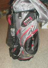 Hunter Prism Lightweight Stand Golf Bag 8-Way Club Divider Osu Ohio State Colors