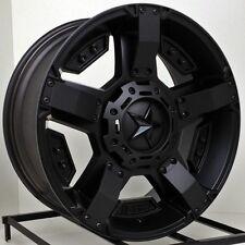 17 inch Black Wheels Rims Dodge RAM 1500 Truck 5x5.5 XD Series Rockstar 2 NEW