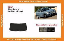 pellicola oscurante vetri SEAT ibiza 3p dal 2002-2008 kit lunotto
