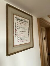 """More details for antique house blessing , hand painted & signed """"bless this house"""" poem c:-1890s."""