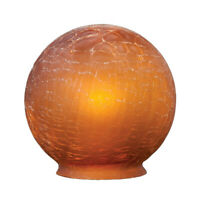 """3 1/4"""" Fitter ~ Art Deco Style ~ CRACKLE BALL ~  Vintage Look Glass Lamp Shade"""