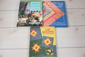 Lot 3 How To Books Quilting Patchwork Ultimate Lap Patterns Quilt Making Guide