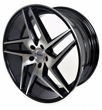 4 GWG Wheels 20 inch STAGGERED Black RAZOR Rims fits 5x114.3 FORD SHELBY GT 500