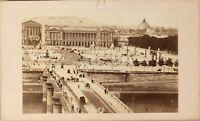 Francia Parigi Istantanea Pont Da La Concorde Foto CDV N Vintage Albumina c1860