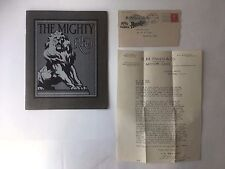 ORIGINAL 1910 THE MIGHTY REO CATALOG , LETTERHEAD AND ENVELOPE