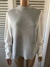Mint Velvet Grey Jumper Size 14 sleeve & cuff detail, perfect new condition