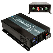 Pure Sine Wave Inverter 2000W Power Inverter 12V to 120V Off Grid LED Display