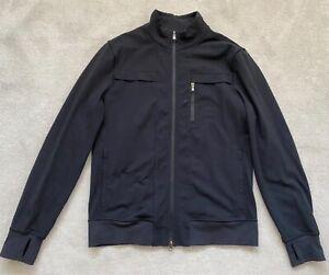 "LULULEMON black stretch sweatshirt zipped top - XL / 42-44"" chest"
