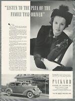 1936 PACKARD advertisement, Canadian ad, Packard Six a woman's car