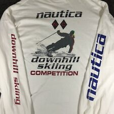 New listing Vintage USA made Nautica T-Shirt Downhill Skiing Competition XXL Pocket L/S