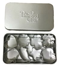 Pampered Chef 8 Piece Mini Creative Cutters Set With Tin Case