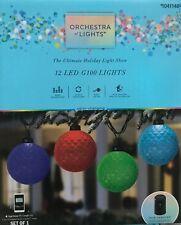 12 Gemmy Orchestra of Lights Multi-Function Color-Changing G100 Globe Led Lights