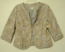 NEW size 8 petite Coldwater Creek cropped JACKET paisley embellished 8P P8
