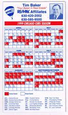 Very Good Grade Baseball Original Vintage Sports Schedules