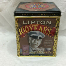 Advertising Tin Only 1990 Lipton 100 Years